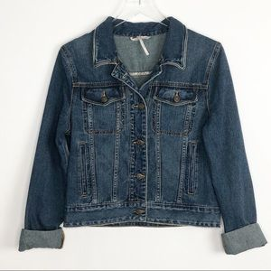 FREE PEOPLE Denim Jean Jacket Trucker Medium